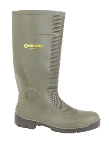 Amblers Green Safety Wellingtons