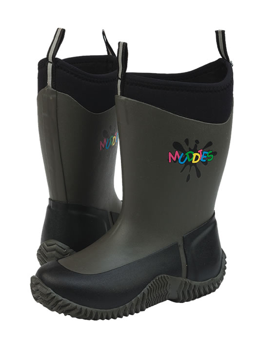Grubs Icicle Charcoal Kids Wellingtons