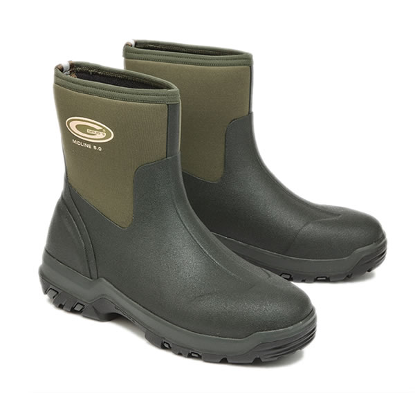 Grubs Midline Green Wellingtons