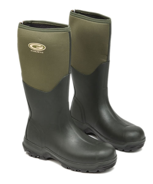 Grubs Riverline Green Wellingtons