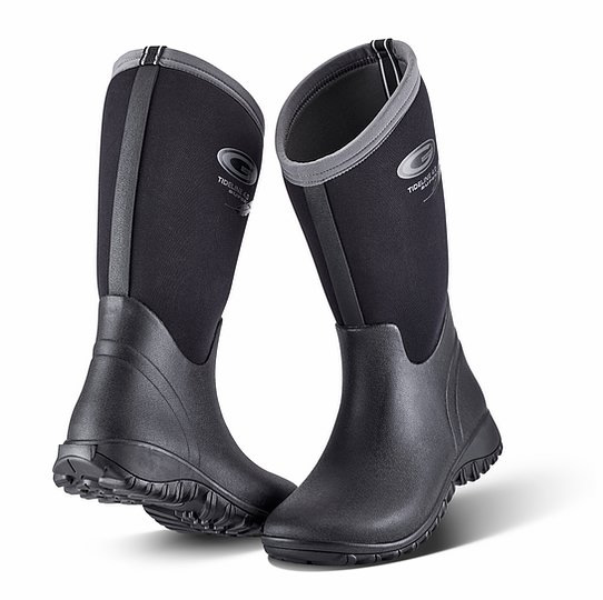 Grubs Tideline Black Mid Wellingtons