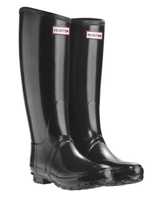 Black Regent Hunter Wellingtons