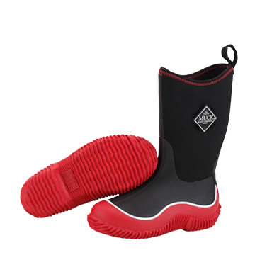 Muck Boot Hale Kids Black And Red