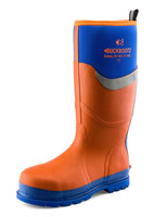 BuckBootz Safety Wellingtons Orange
