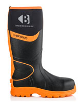 BuckBootz BBZ8000 Hi-Viz Safety Wellingtons Black And Orange