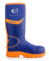 BuckBootz BBZ8000 Hi-Viz Safety Wellingtons Blue And Orange