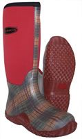 TotallyWellies.Co.Uk - Red Tartan Muck Boot Tack Wellingtons